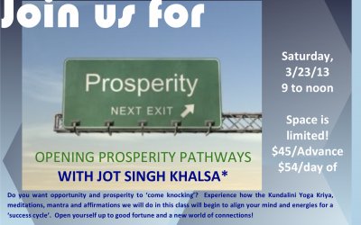 "Jot Singh Khalsa ""Prosperity"" (Past event)"